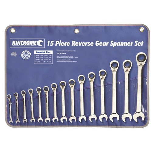 Combination Gear Spanner Set 15 Piece