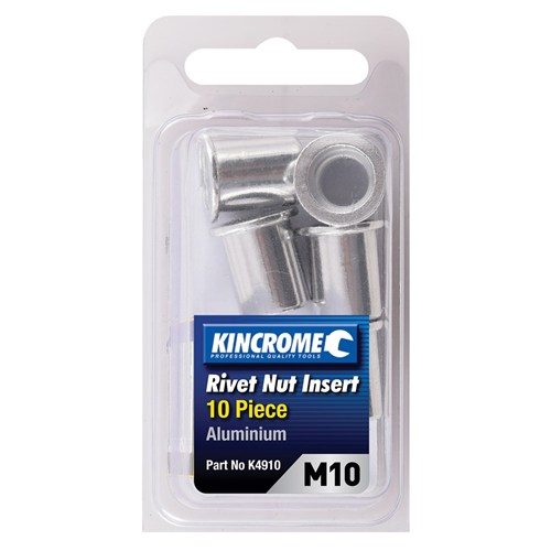 Rivet Nut Insert M10 (Aluminium) - 10 Pack | Riveters (20