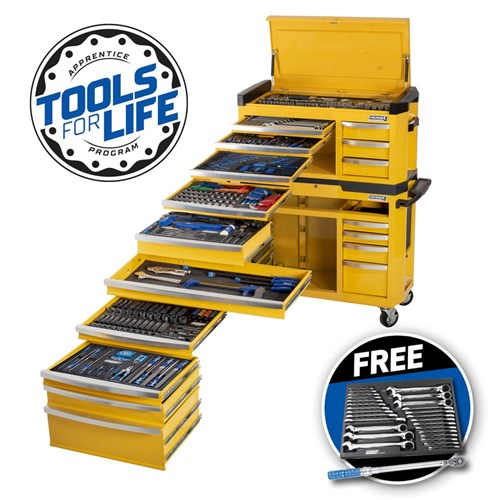 "CONTOUR® Tool Workshop 551 Piece 17 Drawer Wide 1/4, 3/8 & 1/2"" Drive"