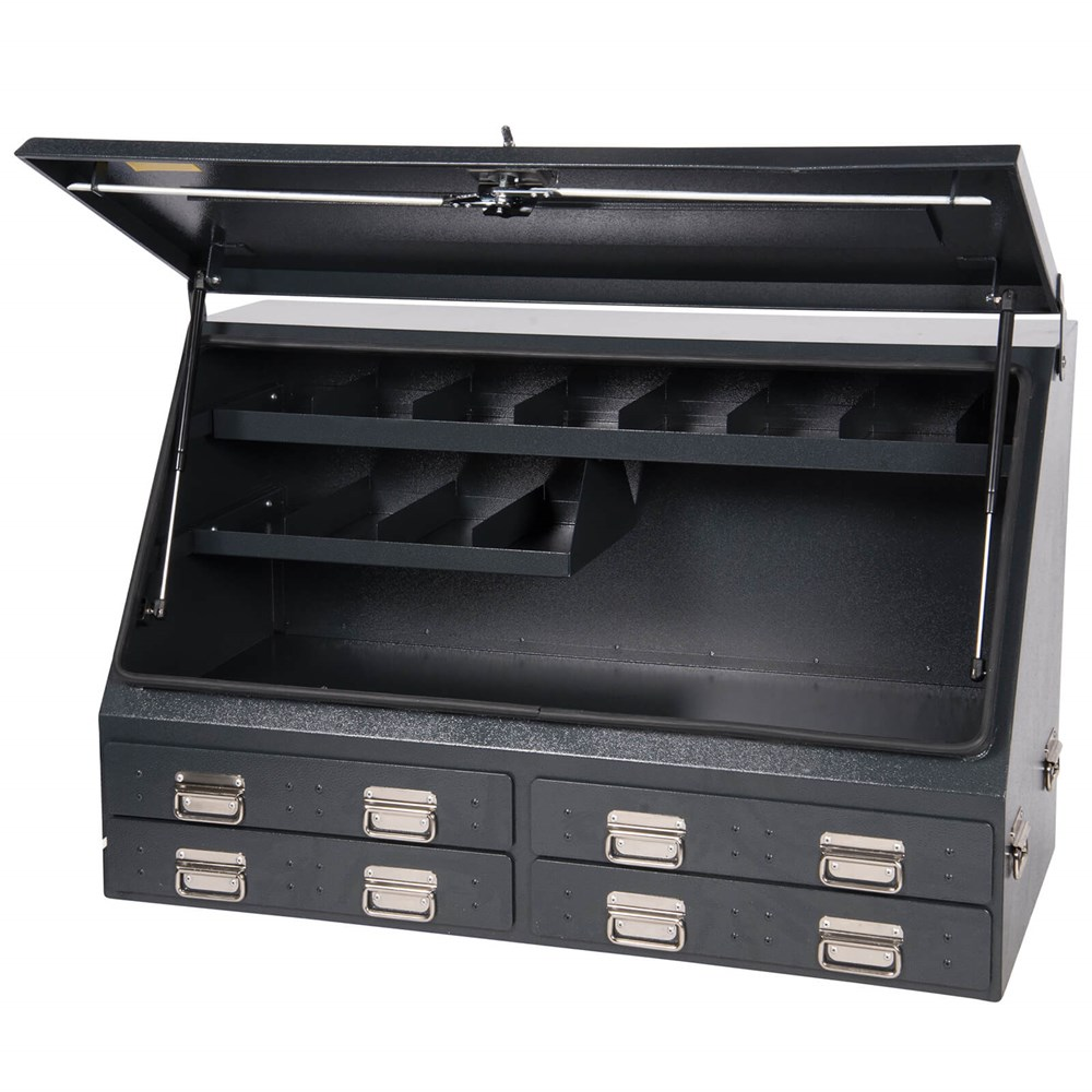 drawers boxes capacity with flat brute mounted display box bed tool truck of bdtruck high