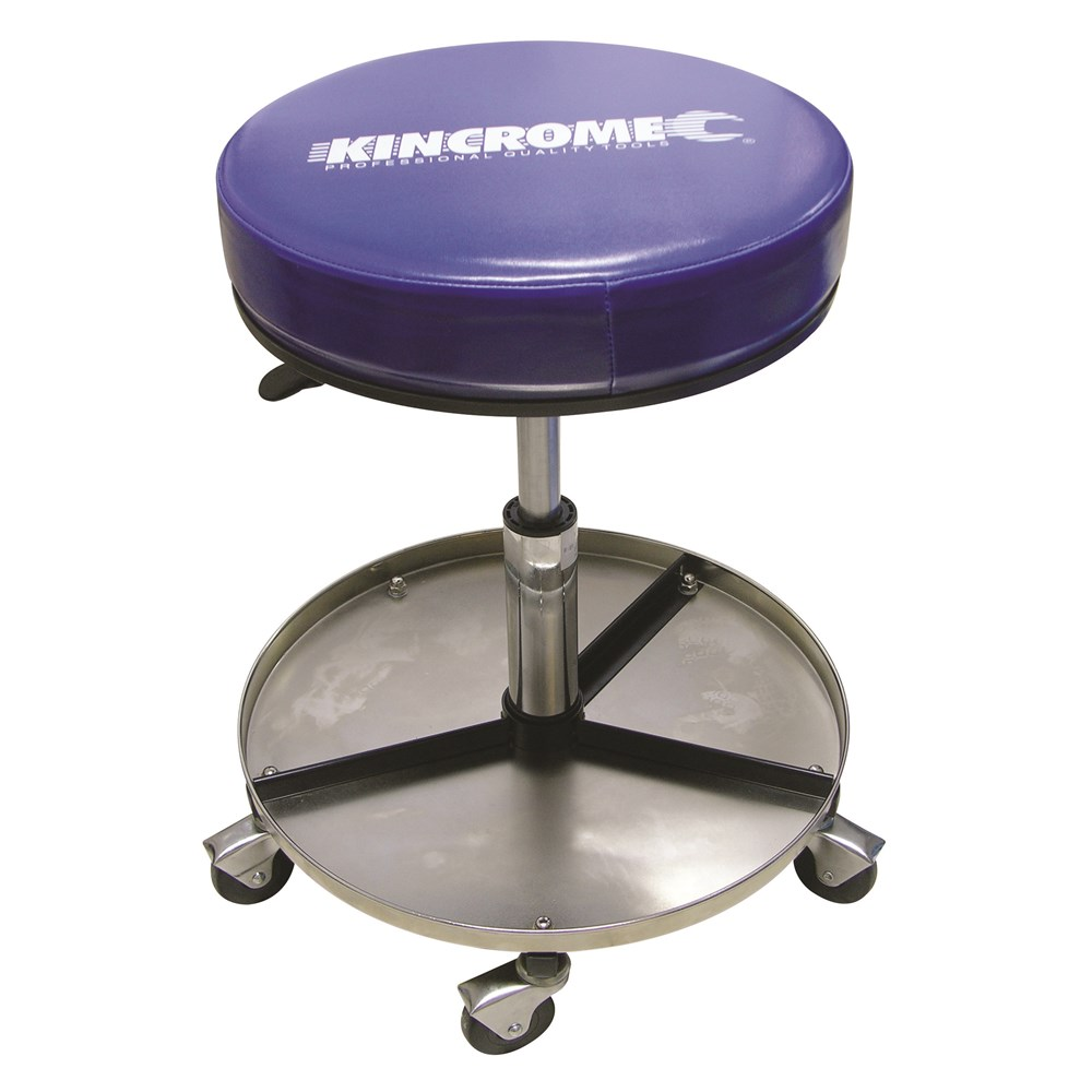 Pneumatic Stool Nickel Plated Creepers 12 Kincrome