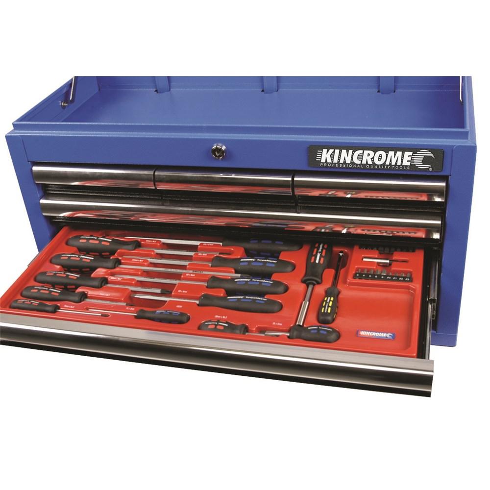 pvc tray torquemaster screwdriver set 33 piece screwdrivers fastening 27 kincrome. Black Bedroom Furniture Sets. Home Design Ideas