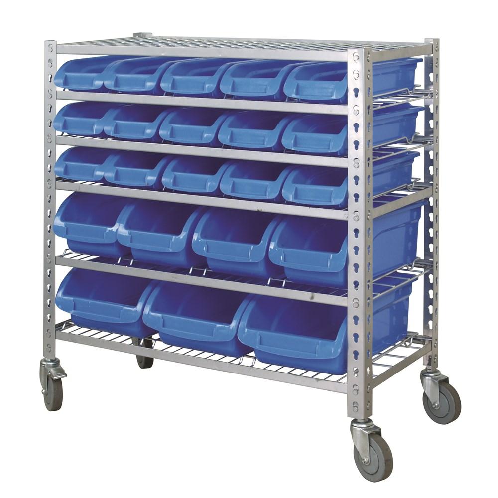 Mobile Storage Rack 22 Bin 6 Shelf Garage Storage 15