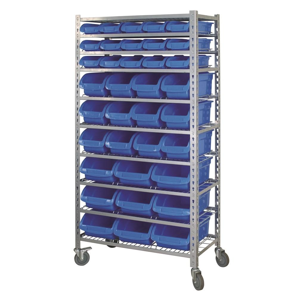 Mobile storage rack 36 bin 10 shelf garage storage 15 - Mobel reck ...