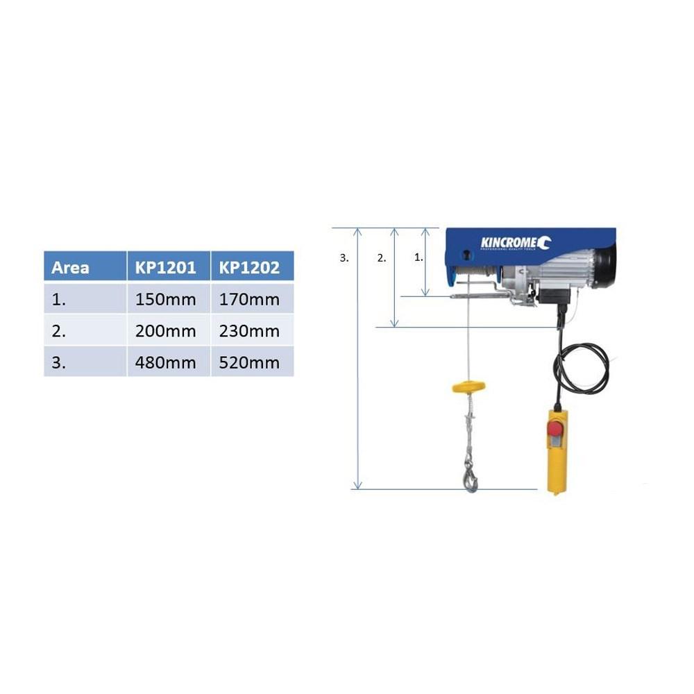 Electric Lifting Hoist 400-800KG   Hoists (3) - Kincrome Australia