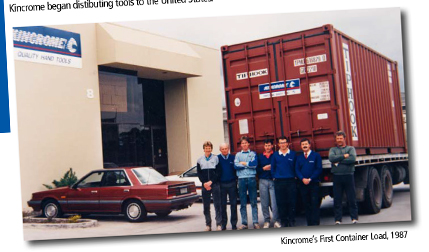 Kincrome's First Container 1987